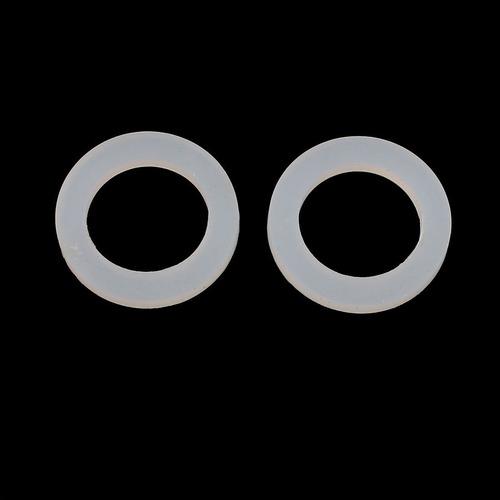 uxcell 30pcs 16mm x 24mm x 3mm de silicona o anillo de estan