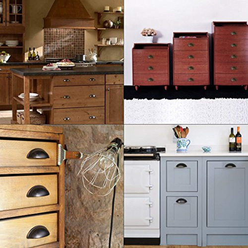 uxcell cup drawer pull kitchen cabinet handles