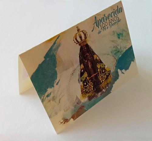 v 9217 senhora aparecida selo minifolder religiao 2017