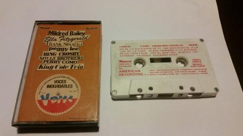 v-disc voces inolvidables cassette nacional