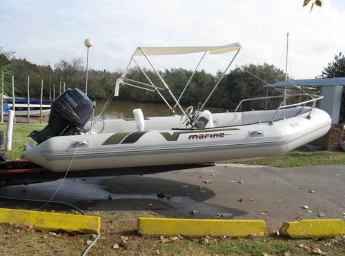 v marine matrizado 4,5 mts con yamaha 30 hp 4 tiempos full