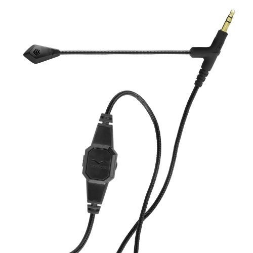 v-moda boompro juego voip auricular con micrófono (negro)
