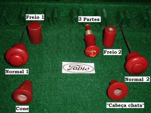 v w / botões acessórios de época na côr vermelha