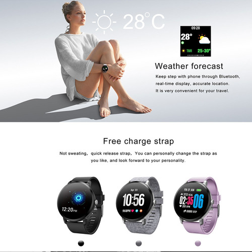 v11 reloj inteligente pista deportiva ritmo cardíaco