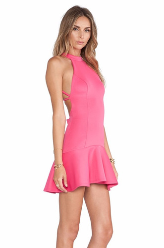 v1128 vestido fucsia, it girls colombia