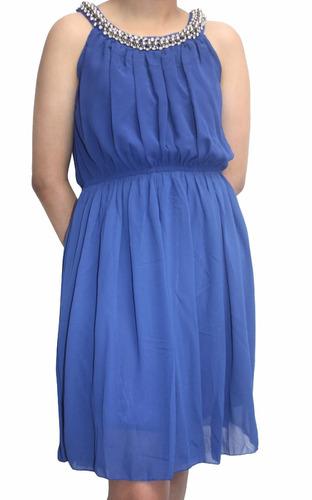 v1256 vestido azul - it girls colombia