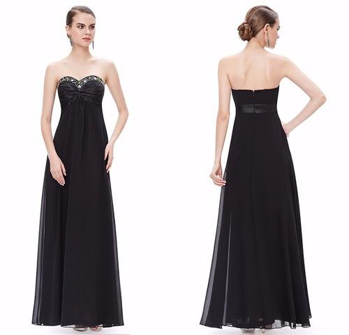 v1263 vestido elegante negro, it girls colombia
