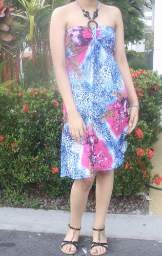 v1267 vestido casual playero - somos it girls