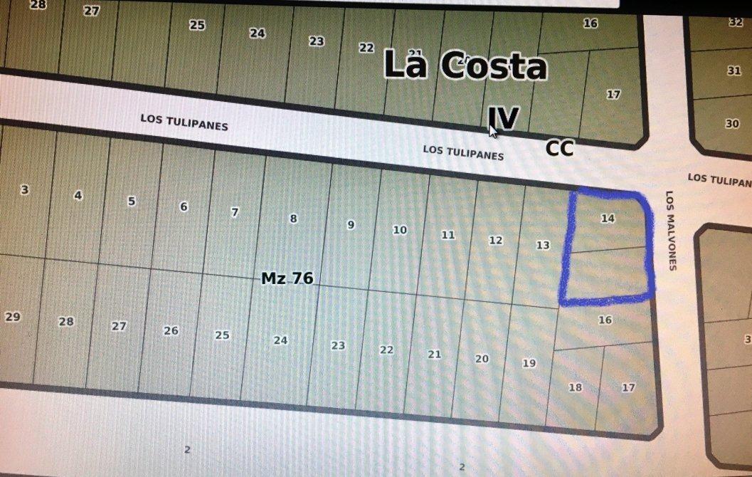 v222 - lote  en costa del este  416 m2