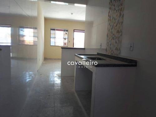 vá a praia a pé!! casa com 1 dormitório à venda, 56 m² por r$ 180.000 - guaratiba (ponta negra) - maricá/rj - ca2780