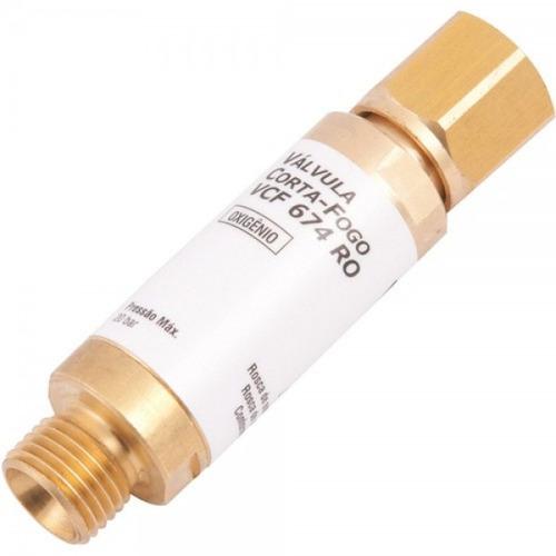 vaálvula corta fogo para reguladores - oxigênio - vcf-ro
