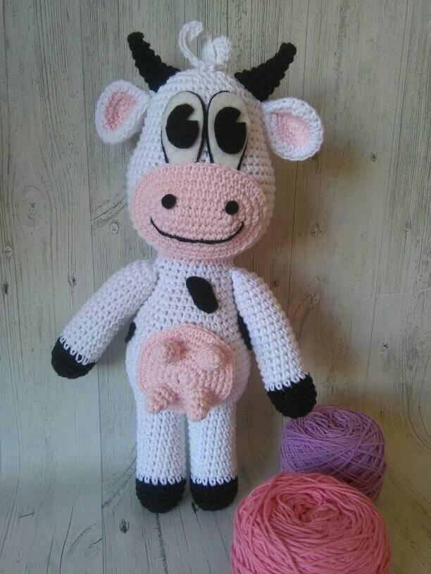 Vaca Amigurumi, Patrón Gratis - Patrones gratis | 816x612