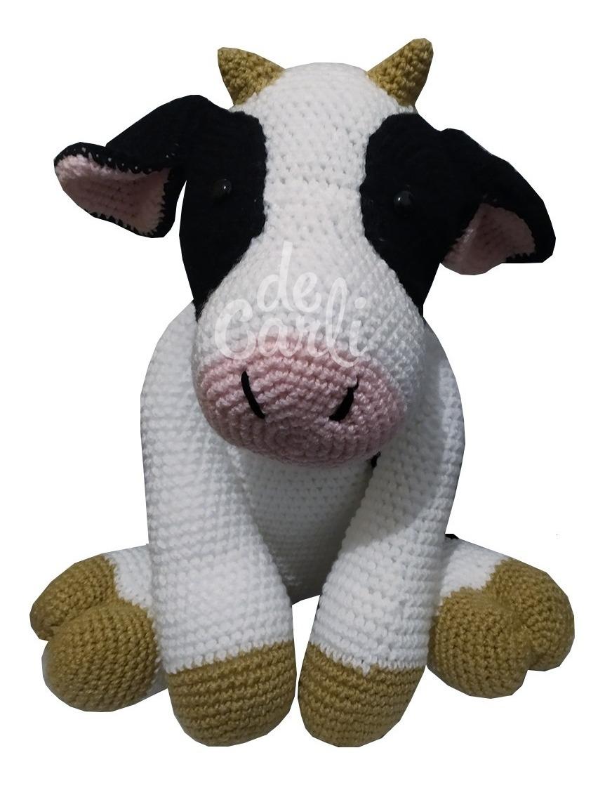 How to crochet a cute little cow - amigurumi tutorial | Llaveros ... | 1122x862
