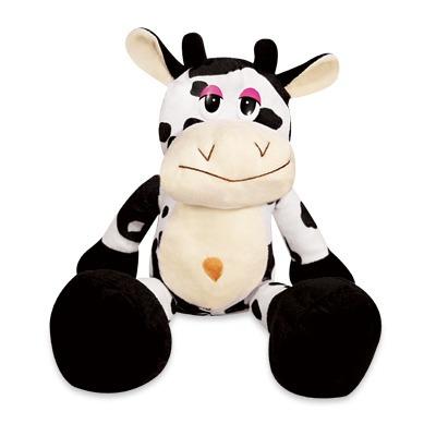 vaca malhada pelúcia hana 25 cm lavável anti alérgica nova