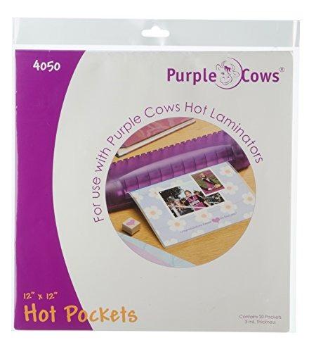 vaca púrpura darice 20 piezas hot pockets, 12 por 12 \