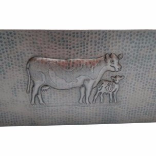 vaca tarja cobre doble con mandil