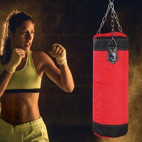 Saco de Boxeo 90cm Vacio Set de Bolsa de Arena Guantes+Ganchos Boxeador Fitness