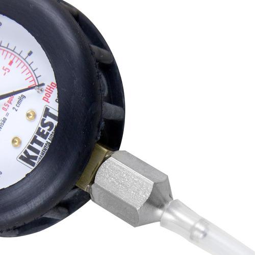 vacuômetro com manômetro 0 a -760 mmhg kitest-ka010