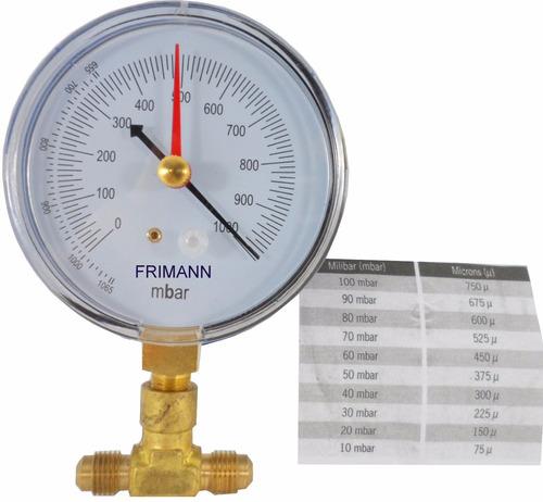vacuômetro refrigeração e ar condicionado bomba de vácuo + t