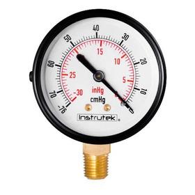 Vacuómetro Carátula 2.5 Plg , -30 Inhg (eq. Ordeña Y Vacío)