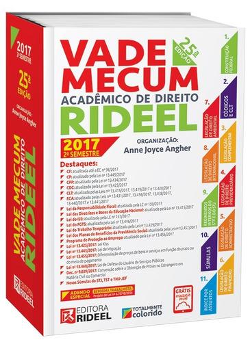 vade mecum acadêmico de direito rideel 25ª ed. 2017 2º sem