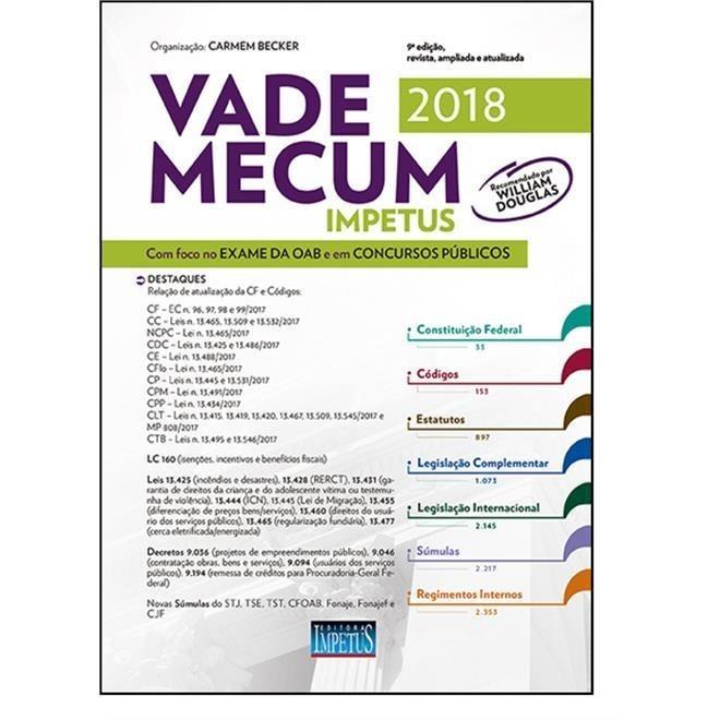 Vade Mecum Impetus Para Oab E Concursos 2018 - Novo - R