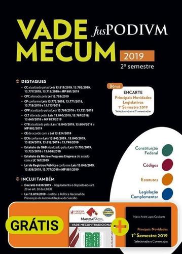vade mecum juspodivm 2019 - 2º sem. + brinde capa plástica
