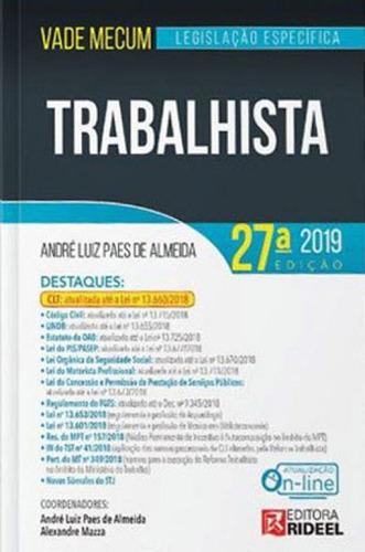 vade mecum trabalhista - legislaçao especifica - 2019