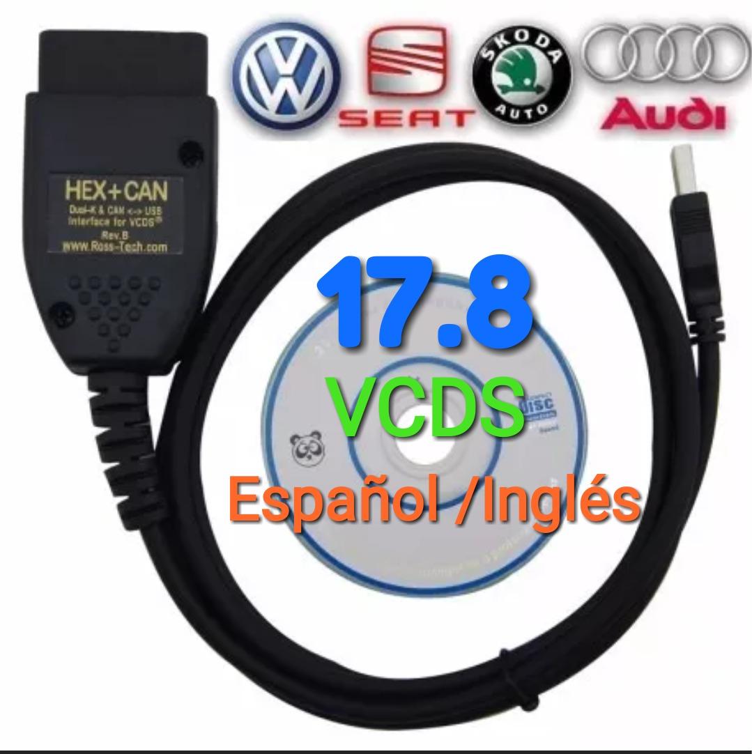 Vagcom 17.8 Vcds Españo/ingles Hex+can Obdii Vw Seat Audi - $ 995.00