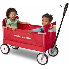 Vagon 3 En 1 Radio Flyer Wagon Vagon Para 2 Niños Carretilla