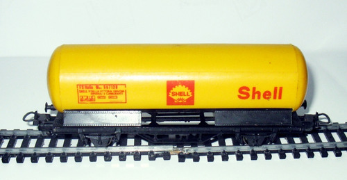 vagón cisterna shell- escala h0 1/87 lima