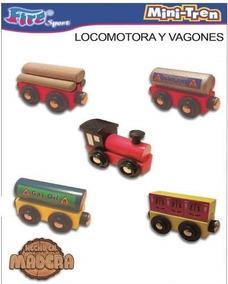 Madera En Con Vagon Mini Tren Iman Accesorios vmNn08w