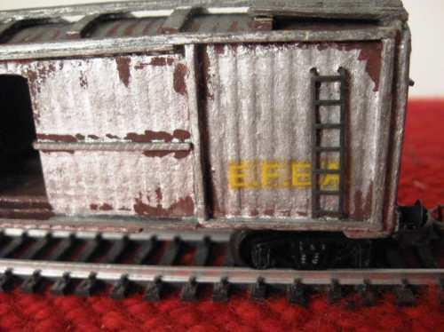 vagon  de carga cerrado de chapa tren ferrocarril argentinos