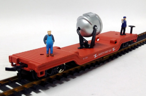 vagón de seguridad con iluminacion- 1/87 h0 model power