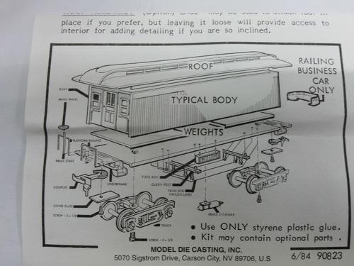 vagon pasajero 34  overton combine car escala ho