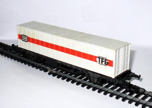 vagón porta- contenedor  escala h0 1/87 lima