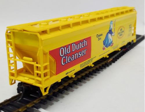 vagón tolva old dutch cleanser - escala h0 tyco 1/87