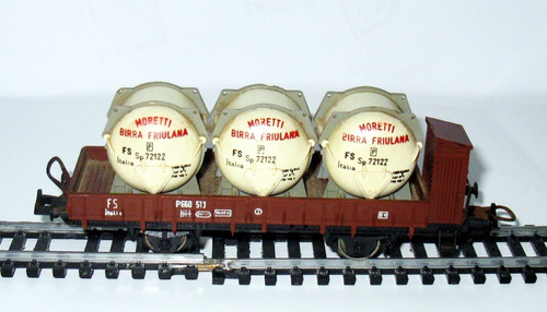 vagón transporte de toneles de cerveza- escala h0 1/87 lima
