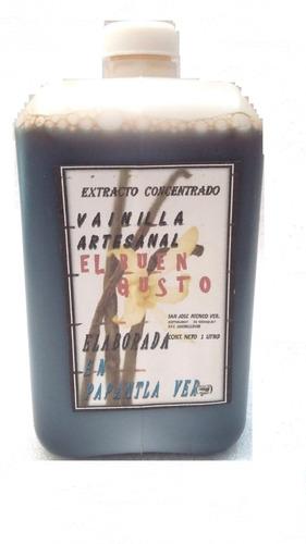 vainilla natural, de papantla veracruz,1 litro. artesanal