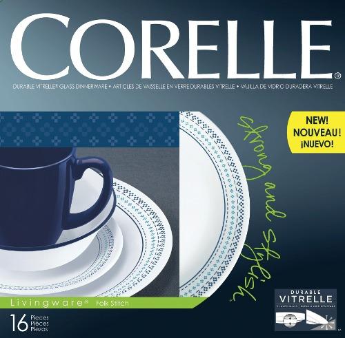 vajilla 16 piezas folk stitch corelle - 1109599