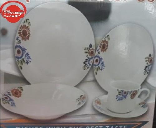 vajilla 20 piezas de porcelana economica
