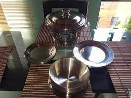 vajilla acero inoxidable plato tendido, sopero y vaso