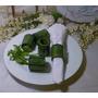 Anillos Porta Servilleta De Ceramica Verde Hermosos