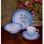 Antigua Taza De Porcelana Con Platos Pan Y Cereal O Postre