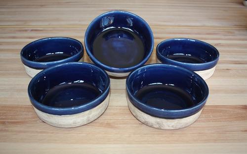 vajilla artesanal ceramica - juego de consome esmaltado