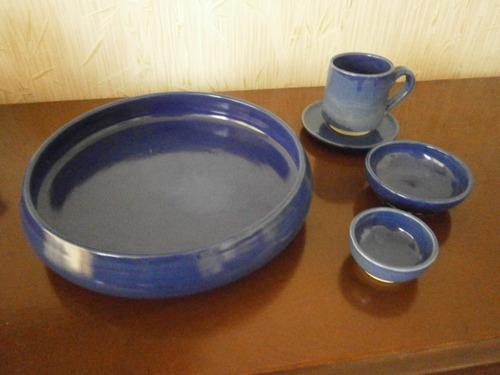 vajilla artesanal de barro hecha a mano