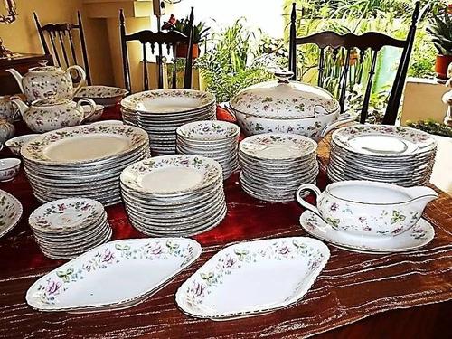 vajilla de 70 años alemana, porcelana bavaria, 142 piezas.