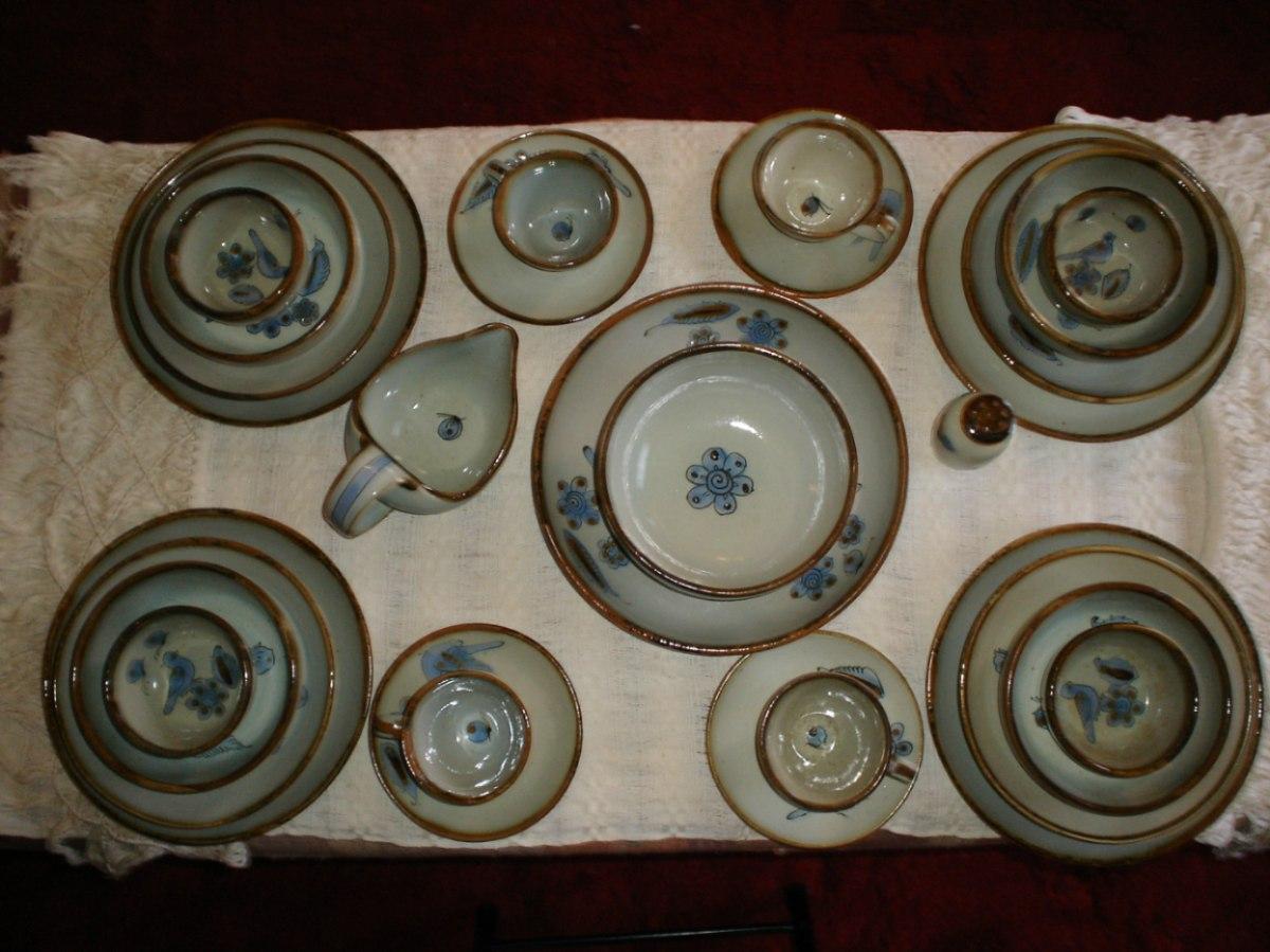 Vajilla de cer mica artesanal para 4 personas 13 000 for Materiales para ceramica artesanal