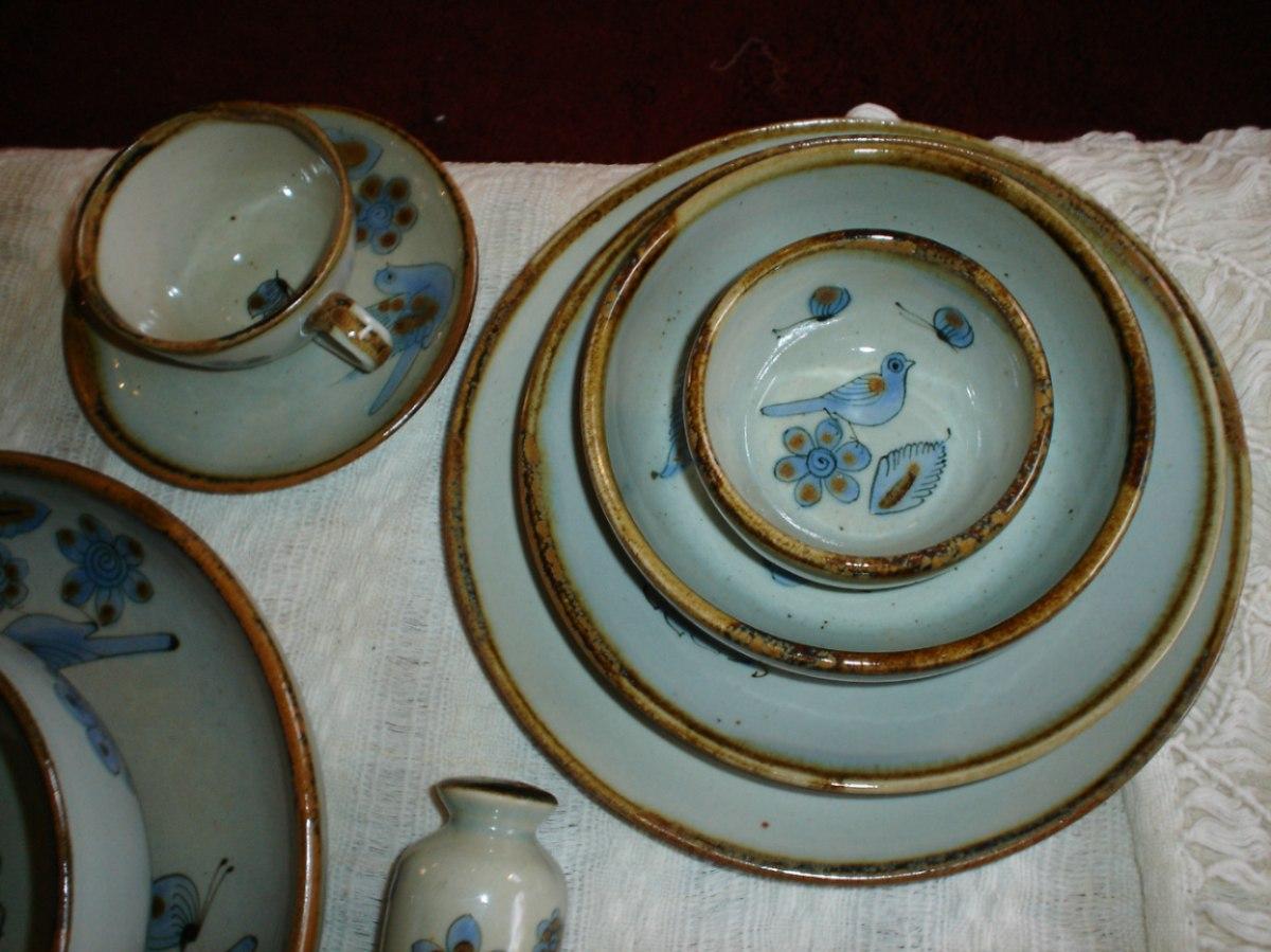 Vajilla de cer mica artesanal para 4 personas 13 000 for Vajilla ceramica
