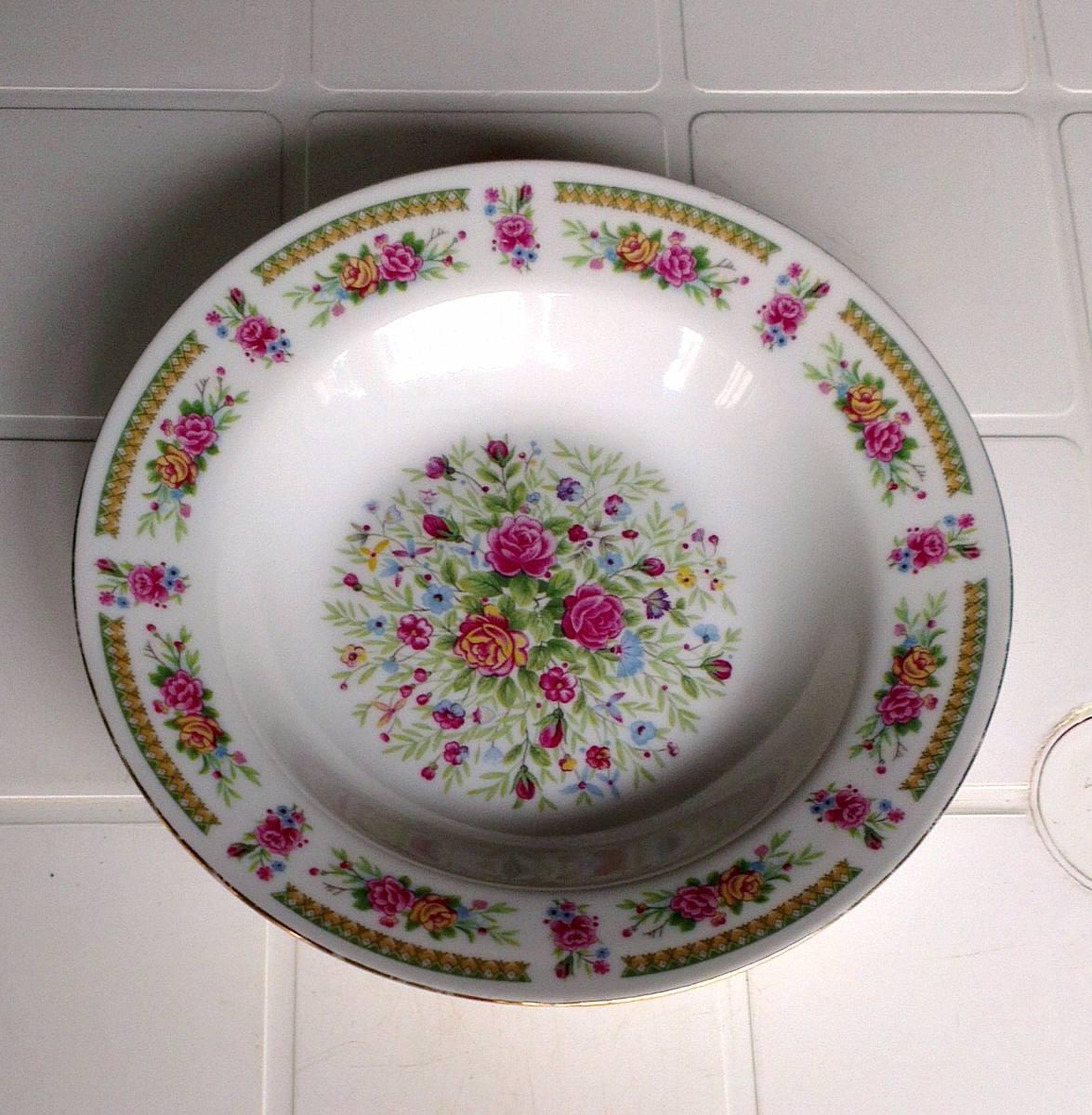 Vajilla de ceramica decorada 4 puestos 19 piezas bs 35 for Vajilla ceramica